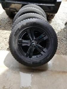 BRAND NEW 2017 JEEP CHEROKEE   HIGH PERFORMANCE GENERAL WINTER TIRES 245 / 65 / 17 ON AFTERMARKET ALLOY WHEELS.NO SENSOR