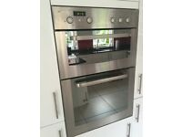 Integrated double oven stainless steel