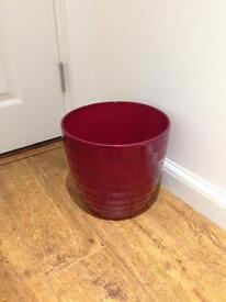 Red Scheurich Plant Pot