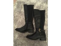 Size 5 brand new leather boots