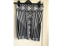 Missguided black and white skirt size 8