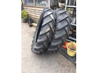 """Pair 28"""" tractor tyres"""