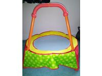 Toddler/Baby trampoline - great condition, only used indoors, red & yellow