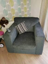 Charcoal grey armchair