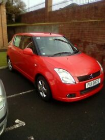 July 2007 Suzuki Swift GLX , red, mot July 20th, great condition, good driver