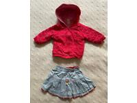 Girls skirt and hoodie 3-6 months