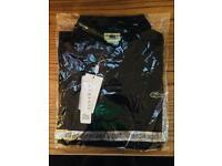 MENS BLACK LACOSTE POLO SHIRT BRAND NEW WITH TAGS SIZE XXL CHEST 44-46 PAYPAL POST COLLECT
