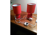 TWO BED SIDE TABLE LAMPS