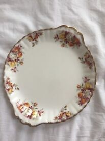 Royal Albert LENORA Cake Plate - Made in England - Vintage Antique Collectible - Floral China