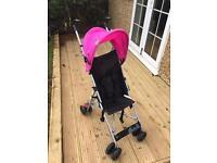 Pink stroller for kids