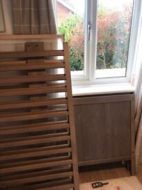 IKEA cot with memory foam mattress