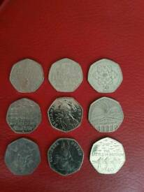 Collectors 50p coins