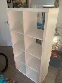 IKEA storage kallax white unit