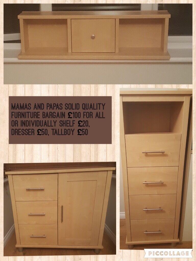 Mamas And Papas Bedroom Furniture Mamas And Papas Modensa Solid Built Nursery Bedroom Furniture