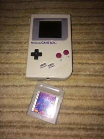 Original gameboy and Tetris game