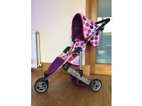 "Mamas & Papas 3 Wheel Stroller. Handle height is 29.5""."