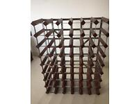 Wine rack for up to 54-56 bottles