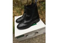 Black Leather Wessex Jodhpur Horse Riding Boots Size 3 36
