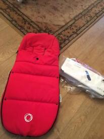 Bugaboo NEW luxury footmuff in red, in packet ,