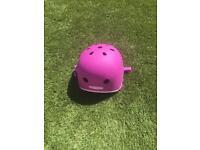 Pink micro scooter helmet