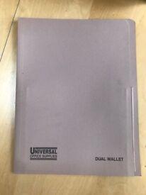UNIVERSAL SUPPLIES DUAL WALLET FOOLSCAP BUFF X 25