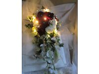 SILK WEDDING FLOWERS, REALISTIC, IDEAL TO CARRY ABROAD.