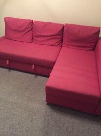 Ikea friheten corner sofa bed with storage. £50 ONO