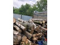 Hard wood logs