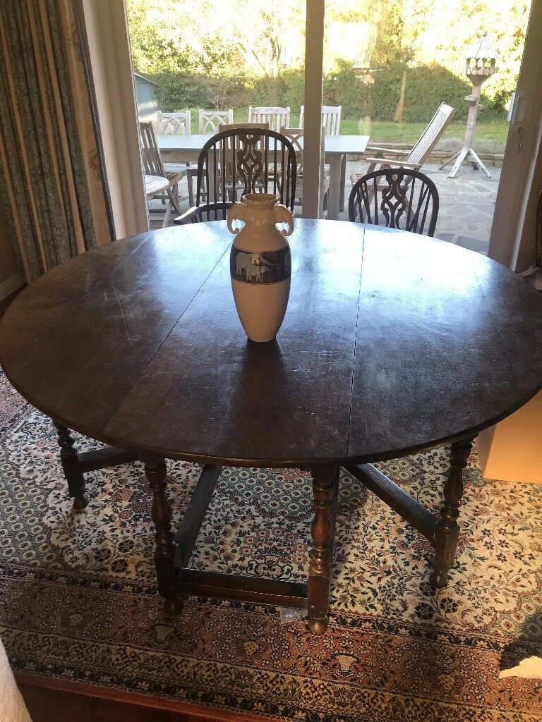Round Oak Dining Table In Barnet London Gumtree