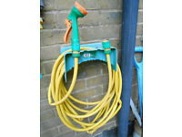 Hose Pipe Kit with Wall Mounting and Spray Nozzle 10M Long