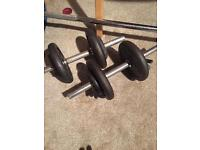 Iron dumbbells 25kg,weights