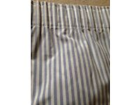 Blue and White Striped Curtains