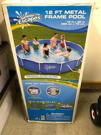 12ft brand new metal frame swimming pool