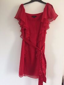 Gorgeous Red Silk Coast Dress, Size 10
