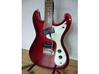 Mosrite style electric guitar by Wilson Bros