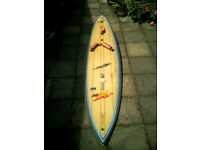 Tiki 325 Windsurfing board complete with mast, boom and sails