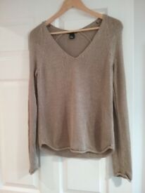 Beige womans size Eur XS Zara jumper