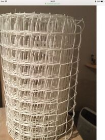 White Mesh Fencing