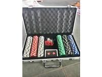 CQ DICE Poker Chip Set in Aluminium Case