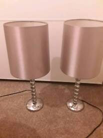 Pair of next bedside table lamps