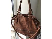 Kipling brown leather handbag