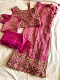 Indian suit - pink and gold