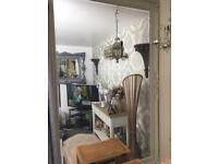 French mirror in a pale green