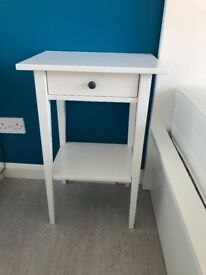 Ikea Hemnes Bedside Table with Drawer White