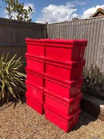 Red boxes with lids