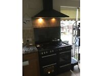 Belling gas range cooker and extractor hood
