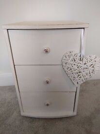 Shabby Chic White Chalk Paint Distressed Chest of Drawers Annie Sloan Wax