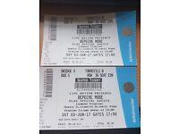 Depeche Mode 3. June in London - 2 Seated Ticket in M05 Box
