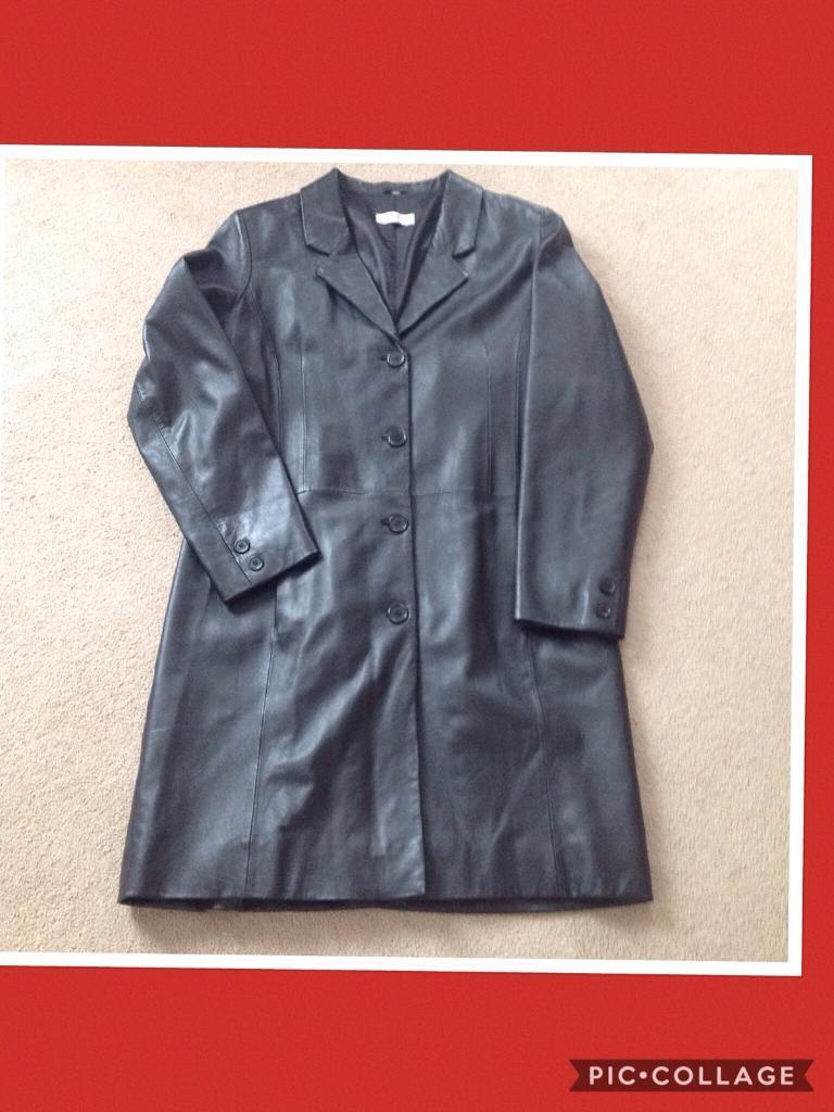 New soft Real leather long coat.
