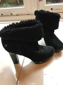 Ugg heeled boots! Size 4